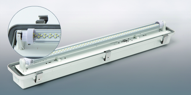 Waterproof 2 foot LED fixture